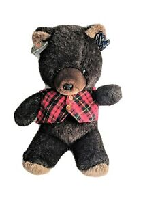 Vintage Emotions Freemont Jr Bear Fluffy Dark Brown Plushee New With Tags Mattel