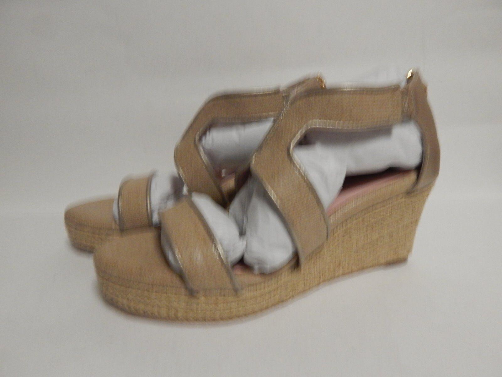 Taryn pink Karsen Wedge Sandal 5.5 M Nat gold CL  New with Box