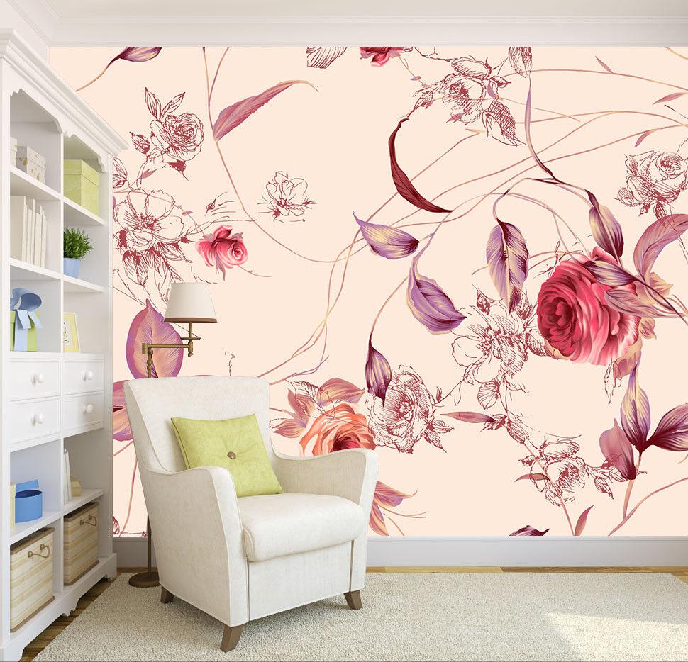 3D Art Flower Series 7 Wall Paper Murals Wall Print Wall Wallpaper Mural AU Kyra