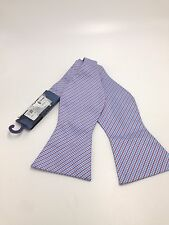 $125 TOMMY HILFIGER Men`s RED BLUE WHITE CHECK BOW TIE DRESS  ADJUSTABLE BOWTIE