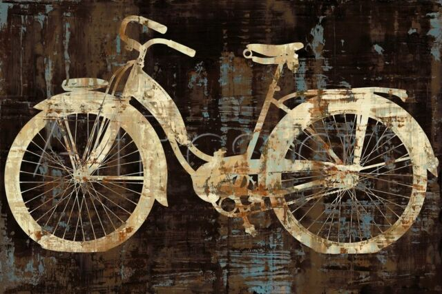 VINTAGE BICYCLE ART PRINT - Vintage Ride by Amanda Wade 36x24 Bike Cycle Poster