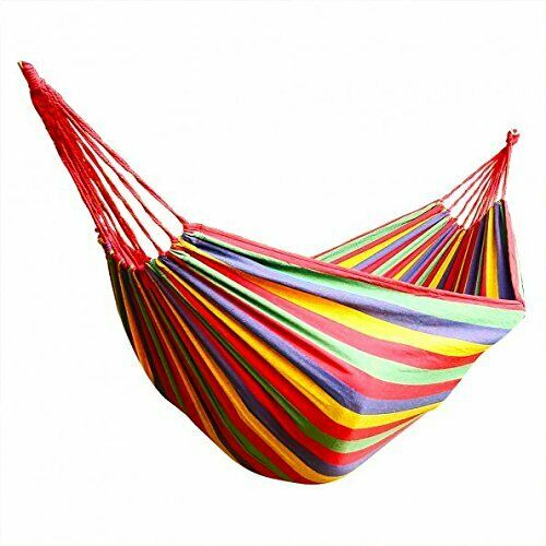 Honesh Outdoor Leisure Double 2 Person Cotton Hammock