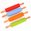 Silicone-Rolling-Pin-Non-Stick-Pastry-Baking-Tool-Dough-Roller-Wooden-Handle thumbnail 14