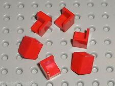 6 x LEGO Red Panel 1 x1 Corner ref 6231 / Set 10222 76052 8092 70402 10184 8362