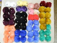 Choice of Colors Vintage Fuzzy Roller State Tie On Pom Poms Bells Blue Gold Pink