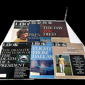 Look Magazing Lot Of 6 JFK Nov 17 1964, Jan 24, Feb 7, 21, March 7, April 4 1967