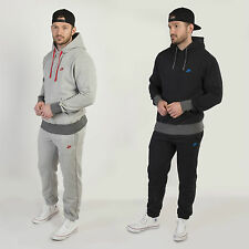 Nike Men's Retro Hooded Tracksuit Fleece Lined Jog Suit Sweatshirt & Bottoms
