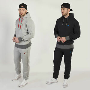 Nike-Men-039-s-Retro-Hooded-Tracksuit-Fleece-Lined-Jog-Suit-Sweatshirt-amp-Bottoms