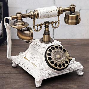 Retro-Vintage-Telefon-Waehlscheiben-Festnetztelefon-Anrufer-ID-Schnurgebundene-o2