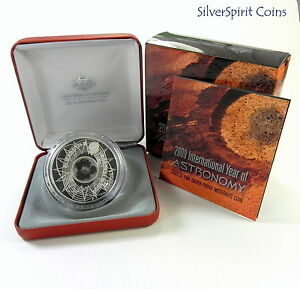 2009-5-INTERNATIONAL-YEAR-OF-ASTRONOMY-Silver-Proof-Coin-with-Meteorite-Pieces