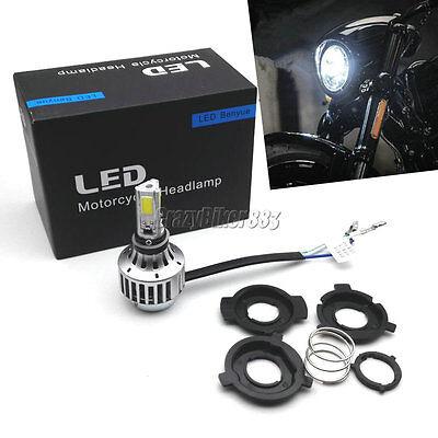 H4 Hi-Lo Beam LED Headlight Bulb For Honda VT Shadow Spirit Ace 500 700 750 1100