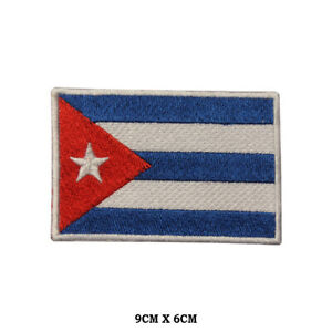 Cuba-National-Flag-Embroidered-Patch-Iron-on-Sew-On-Badge-For-Clothe-etc