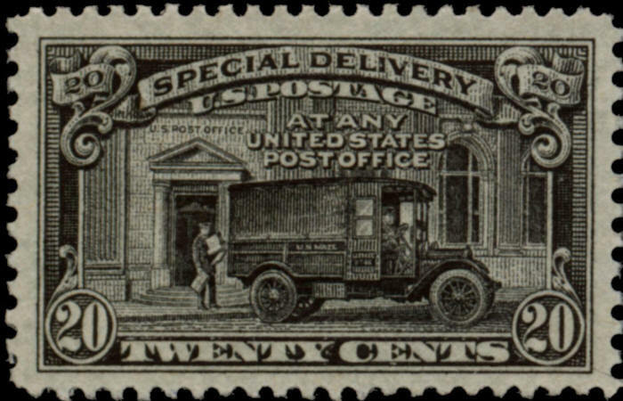 1925 20c Post Office Truck, Special Delivery, Black Sco