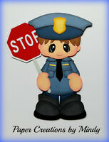 Craftecafe Police Officer Boy Premade Paper Piecing Scrapbooking Pagealbum Mindy