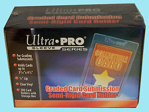 200 Ultra Pro Semi Rigid Graded Card Holder New Sleeves Psa Bgs