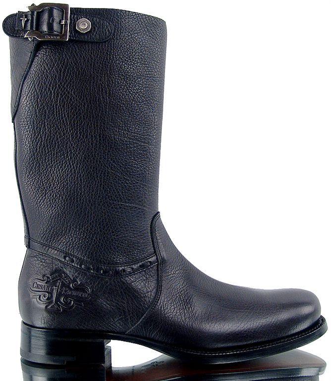 Authentic Cesare Paciotti US 7 Deer Skin Leather stivali Italian Designer scarpe