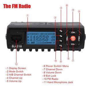Neu-Mini-Auto-Mobile-FM-Radio-VHF-UHF-Mobilfunk-2-Band-Transceiver-Walkie-Talkie