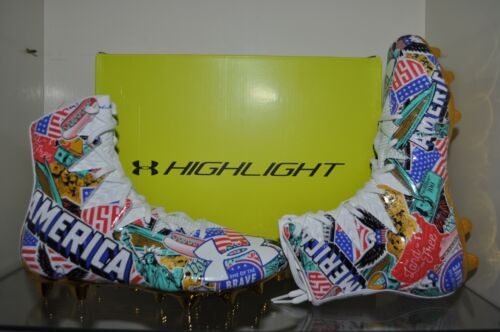 Under Armour Highlight MC Limited Edition AMERICA Football Cleats NIB ❤️