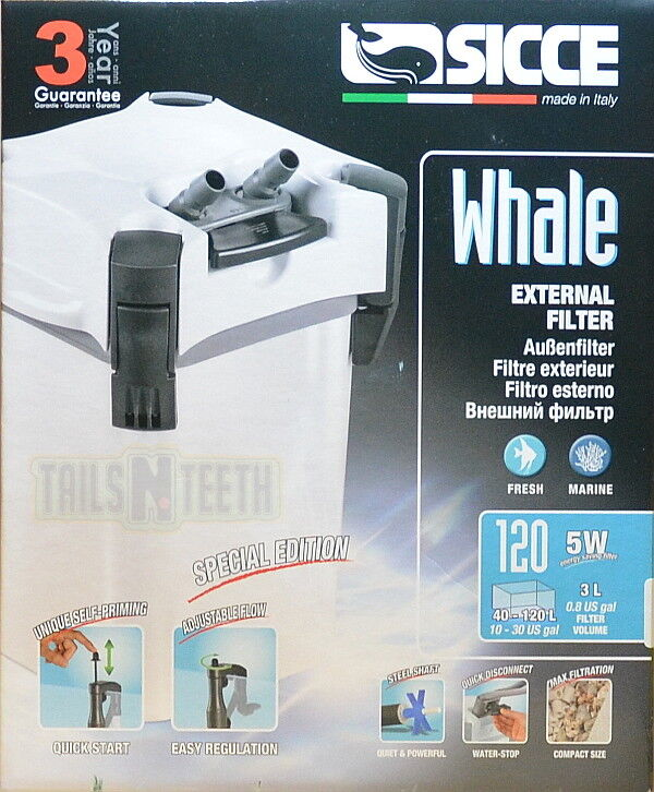 Sicce Whale External Aquarium Canister Filter 120 Special Edition bianca   30gal