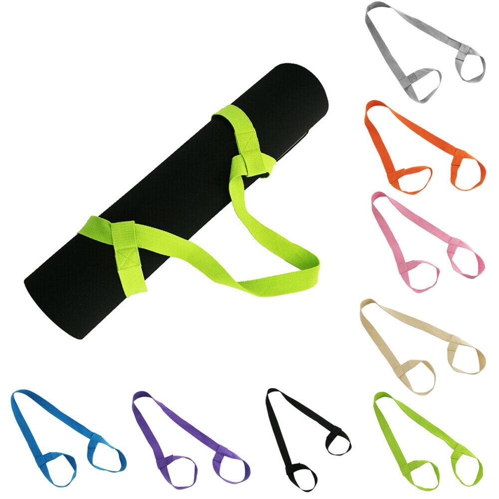 HK- Adjustable Yoga Mat Elastic Belt Holder Strap Shoulder C