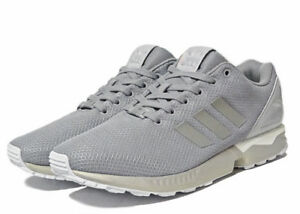 on sale d727b 1c319 Image is loading Adidas-Originals-ZX-Flux-Light-Granite-White-B34483-