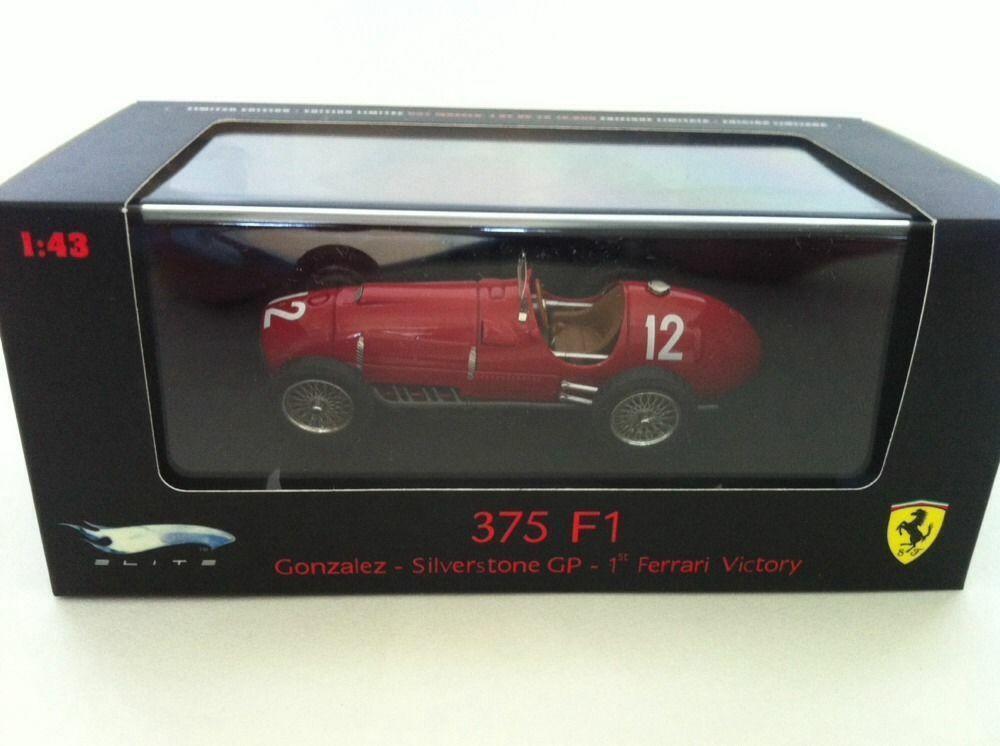 Hot Wheels Elite 1 43 Ferrari F1 Collection - 375 F1 - F. GONZALEZ - 1st Victory