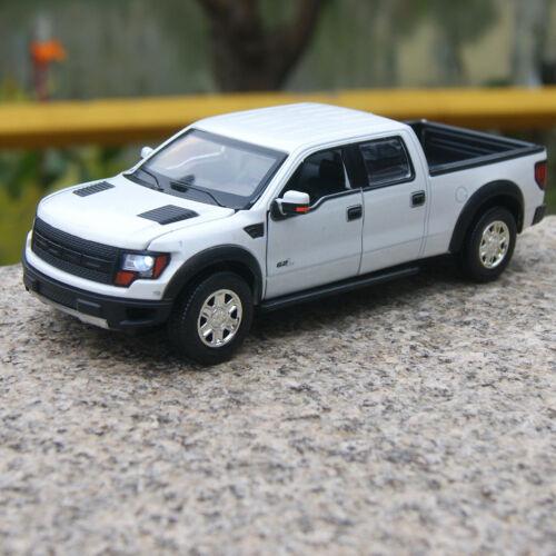 Ford F-150 SVT Raptor Model Car 1:32 Sound/&LightAlloy Diecast Toys Pickup White