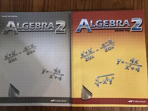 Details about Abeka Grade 10 Math Algebra 2 Second Edition Solution, Test,  and Quiz Keys