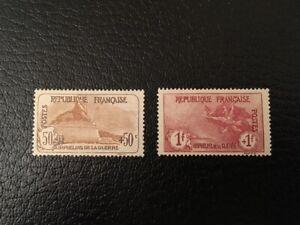 AVO-1217-FRANCE-orphelin-timbres-n-153-154-1-franc-1-franc-Marseillaise