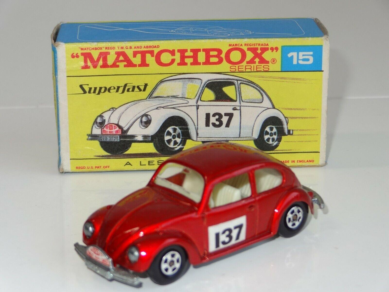 (B) Matchbox súperfast VW Volkswagen EsCocheabajo Monte Cochelo rallye - 15 Caja Raro