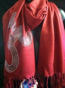 University of Alabama Crimson Gameday Couture Sequin and Stone Pashmina Scarf