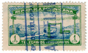 I-B-Dominican-Republic-Telegraphs-1c-Green-amp-Blue