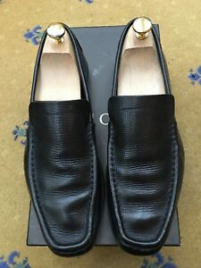 5530554210593a Image is loading Gucci-Mens-Shoes-Black-Leather-Loafers-Drivers-UK-