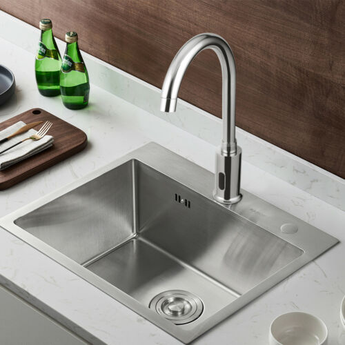 Hand Sink Kitchen Electronic Automatic Bathroom Free Tap Touchless Sensor Faucet