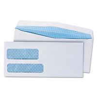 Universal Double Window Check Envelope 9 3 7/8 X 8 7/8 White 500/box 36301 on sale