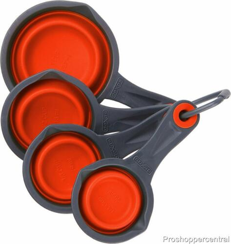 Red NEW Dexas Collapsable Silicone Measuring Cups