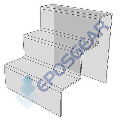3-Stufiger Ständer zum Ausstellen Durchsichtig Acryl Plexiglas für Thresen
