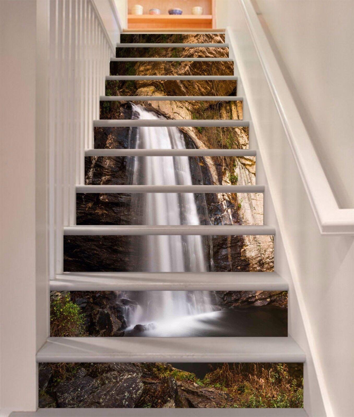 3D Waterfall River 4 Risers Decoration Photo Mural Vinyl Decal Wallpaper CA