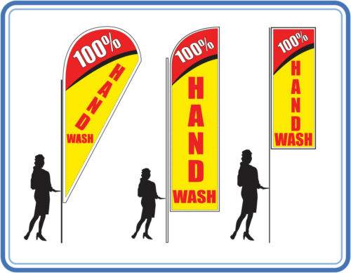 100% hand car wash flags, great for Car wash's Flags Banners UK 3