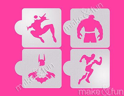 Decoupage Stencil,schablonen Airbrush Cheap Price 4 Pcs Superheroes Cookie Stencil