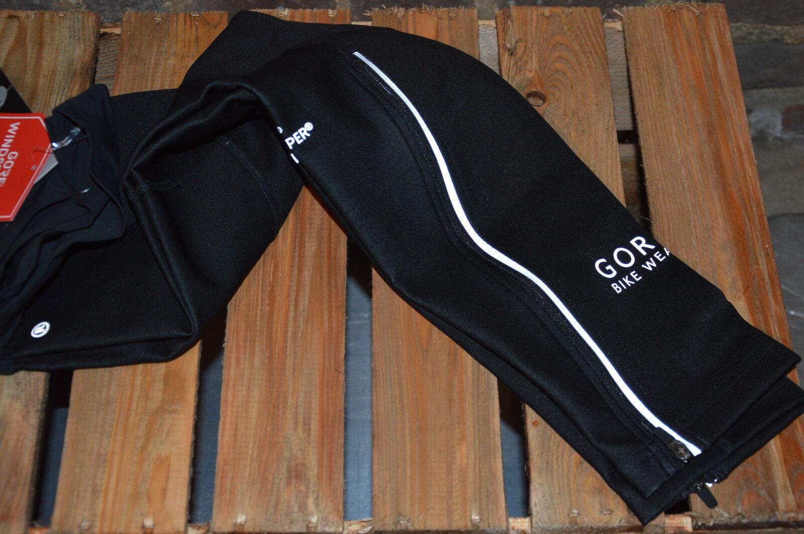 Gore Bike Wear Universal Vento Stopper Beinlinge resistente all'acqua Nero Reflex