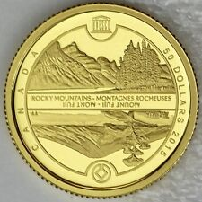 2015 $50 UNESCO at Home and Abroad, Mount Fuji & Canadian Rockies 1/4 oz. Gold
