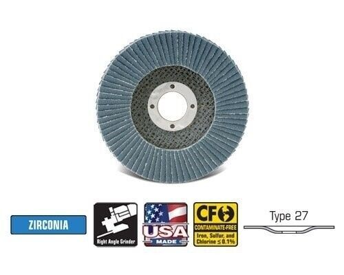 "Flap Disc Z3 XL 4-1//2/"" x 5//8/""-11  T27 Qty10  42352 CGW Camel Grinding Wheels"