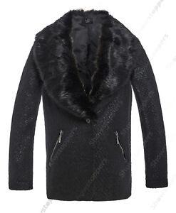 Abrigo-para-mujer-con-textura-Tejida-Invierno-Remates-en-Piel-Chaqueta