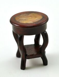Cool Details About Vintage Chinese Natural Wood Stool Chair Miniature Doll Furniture Stone Inlaid Creativecarmelina Interior Chair Design Creativecarmelinacom