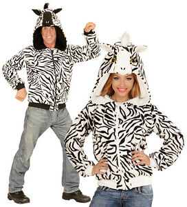 Zebra Jacke Pluschkostum Neu Herren Karneval Fasching Verkleidung