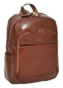 Details About Womens Backpack Luxury Chestnut Leather Rucksack Large Casual Travel Laptop Bag
