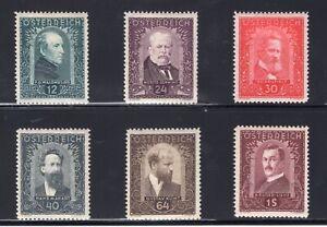 Austria-Sc-B100-105-1932-Artists-Semi-Postal-Charity-Set-Complete-VF-Mint