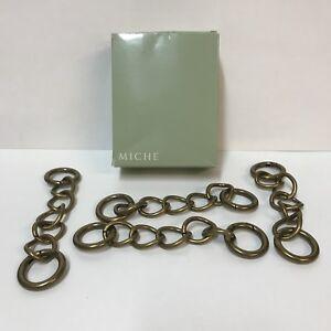 Miche-Bag-Interchangeable-Purse-Handles-Antique-Brass-Chain-Set-4-Item-9454-Box