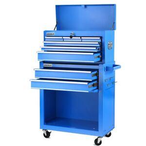 Carro para herramientas PRO armario acero 4 ruedas 10 cajones  Azul -Greencut